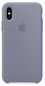 APPLE iPhone Xs Max ETUI SILIKONOWE Lavender Gray