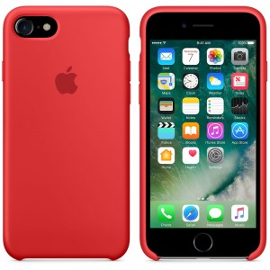 "Oryginalne etui silikonowe Apple iPhone 7 8 4,7"" - Red"