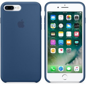 APPLE IPHONE 7 8 PLUS ORYGINALNE ETUI SILIKONOWE OCEAN BLUE