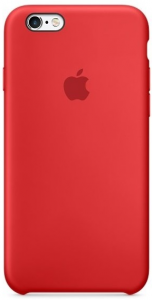 Oryginalne etui silikonowe Apple iPhone 6 6s 4,7'' -  Red