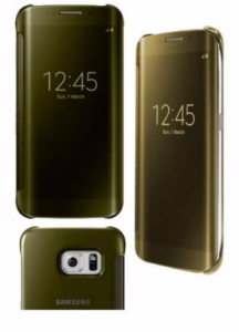 Etui Clear View Cover SAMSUNG S6 EDGE PLUS gold