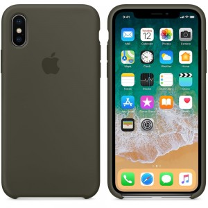 APPLE iPhone X ETUI SILIKONOWE Dark Olive