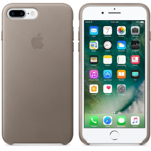 APPLE IPHONE 7 8 PLUS LEATHER CASE ORYG SKÓRZANE ETUI Taupe