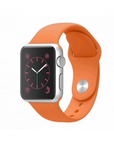 APPLE WATCH 42MM PASEK SPORTOWY SILIKONOWY 24CM ORANGE