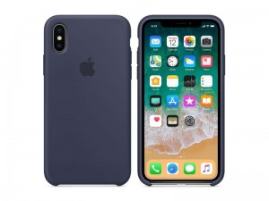 APPLE iPhone XR ETUI SILIKONOWE Midnight Blue