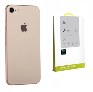BENKS 3D X PRO+ Szkło na tył 9H Apple iPhone 8 Gold