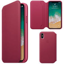 APPLE IPHONE X LEATHER FOLIO SKÓRZANE RED ETUI