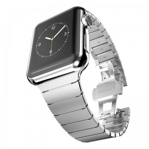 Bransoleta panelowa Apple Watch 42mm - Srebrna