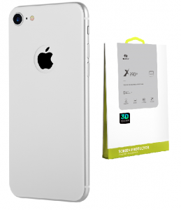 BENKS 3D X PRO+ Szkło na tył 9H Apple iPhone 8 Silver