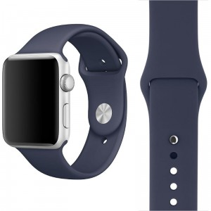 APPLE WATCH 42MM PASEK SPORTOWY SILIKONOWY 21,5CM MIDNIGHT BLUE