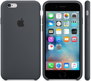 Oryginalne etui silikonowe Apple iPhone 6 6s Plus 5,5 - Charcoal Gray