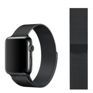 Bransoleta mediolańska Apple Watch 42mm - Czarna