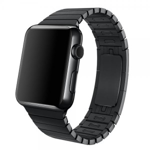 Bransoleta panelowa skracana Apple Watch 42mm - Czarna