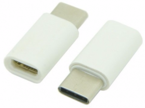 Adapter OTG USB 3.1 USB-C typ C do Micro USB BIAŁY