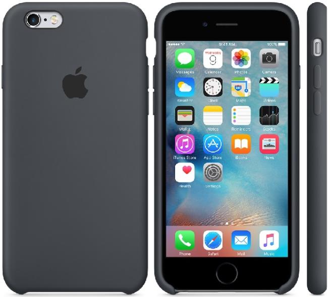 Tylko na zewnątrz Oryginalne etui silikonowe Apple iPhone 6 6s Plus 5,5 - Charcoal XJ89