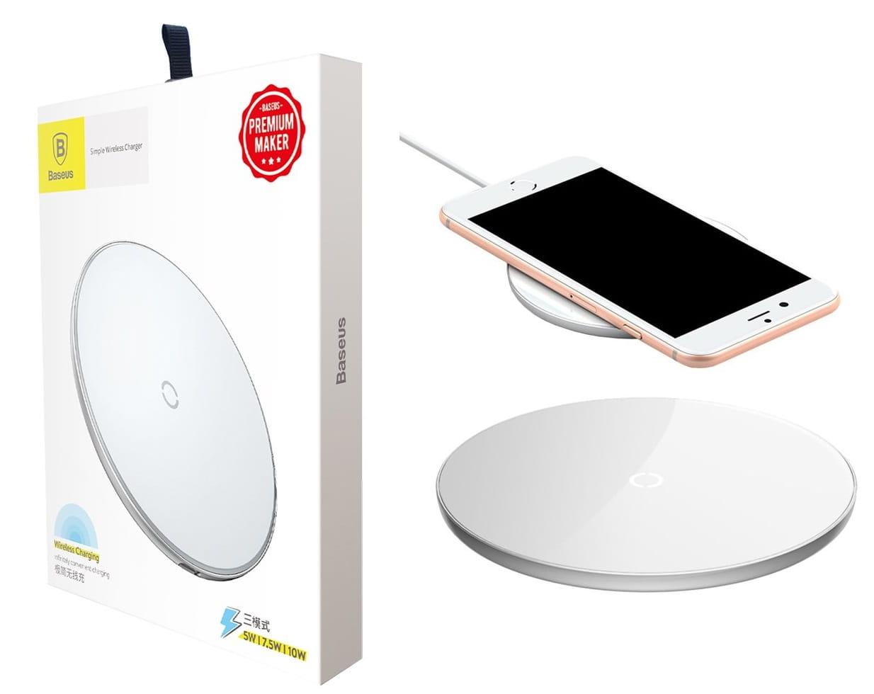 Baseus ładowarka indukcyjna Qi Fast iPhone 8 X XS XR XS MAX biała